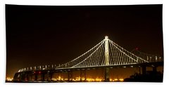 New Bay Bridge Hand Towel by Bill Gallagher