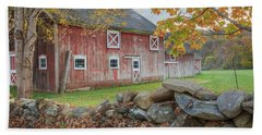 New England Barn Hand Towel by Bill Wakeley