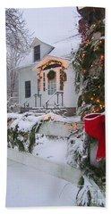 New England Christmas Hand Towel