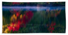 New England Fall Abstract Hand Towel
