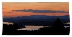New Hampshire Sunset Hand Towel by Mim White