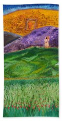 Hand Towel featuring the painting New Jerusalem by Cassie Sears