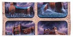 New Mexico Churches In Snow Hand Towel