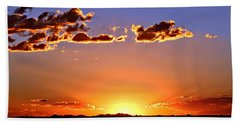 Hand Towel featuring the photograph New Mexico Sunset Glow by Barbara Chichester