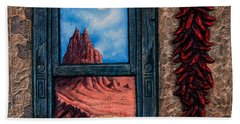 New Mexico Window Gold Hand Towel