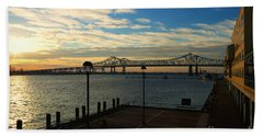 Hand Towel featuring the photograph New Orleans Bridge by Erika Weber