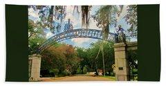New Orleans City Park - Pizzati Gate Entrance Bath Towel