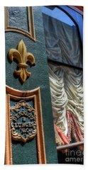 Bath Towel featuring the photograph New Orleans Fleur-de-lis by Timothy Lowry