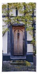 New Photographic Art Print For Sale Doorway 2 In Medieval Lavenham Bath Towel