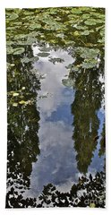 Reflections Amongst The Lily Pads Hand Towel