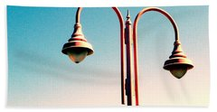 Beach Lamp Post Hand Towel by Valerie Reeves