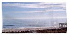 New Year Carolina Beach Hand Towel