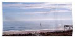 New Year Carolina Beach Bath Towel
