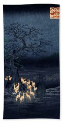 New Years Eve Foxfires At The Changing Tree Hand Towel