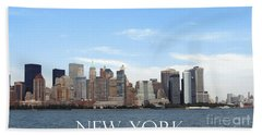 Hand Towel featuring the photograph New York As I Saw It In 2008 by Ausra Huntington nee Paulauskaite