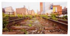New York City - Abandoned Railroad Tracks Bath Towel