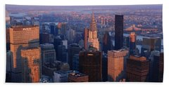 New York City At Dusk Bath Towel