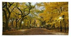 New York City - Autumn - Central Park - Literary Walk Hand Towel