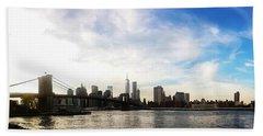 New York City Bridges Hand Towel by Nicklas Gustafsson