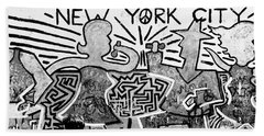 New York City Graffiti Bath Towel