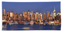 New York City Midtown Manhattan At Dusk Bath Towel