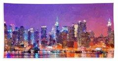 New York City - Skyline 0 Bath Towel
