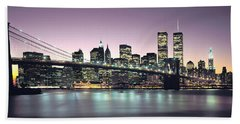 New York City Skyline Hand Towel by Jon Neidert
