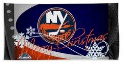 New York Islanders Christmas Hand Towel