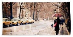 New York Rain - Greenwich Village Hand Towel