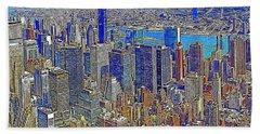 New York Skyline 20130430v3 Bath Towel