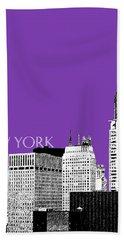 New York Skyline Chrysler Building - Purple Hand Towel