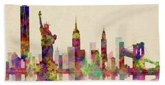 New York Skyline Bath Towel