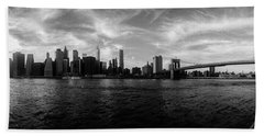 New York Skyline Hand Towel by Nicklas Gustafsson