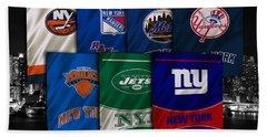 New York Sports Teams Hand Towel