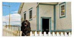 Newfoundland Dog In Newfoundland Bath Towel