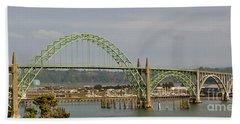 Newport Bay Bridge Hand Towel by Susan Garren