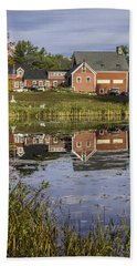 Bath Towel featuring the photograph Nh Farm Reflection by Betty Denise