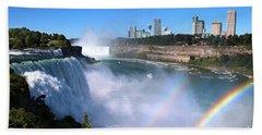 Niagara Falls Double Rainbow Bath Towel