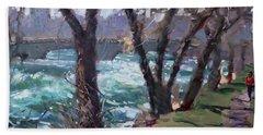 Niagara Falls River April 2014 Bath Towel