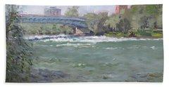 Niagara Falls River Ny Hand Towel