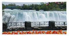 Niagara - Springtime Tulips Bath Towel by Phil Banks