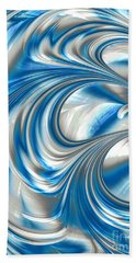 Nickel Blue Abstract Hand Towel