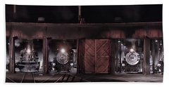 Night At The Durango Roundhouse Hand Towel