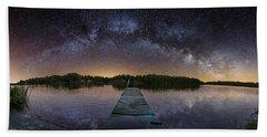Night At The Lake  Bath Towel