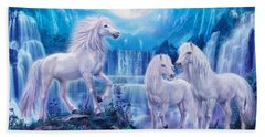 Night Horses Hand Towel by Jan Patrik Krasny