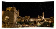 Night In The Old City Bath Towel