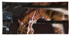 Bath Towel featuring the digital art Night-mare by Stuart Turnbull