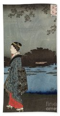 Night View Of Sanya Canal And Matsuchi Hill Hand Towel