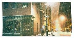 Night - Winter - New York City Hand Towel