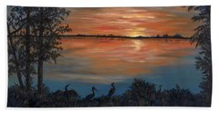 Nightfall At Loxahatchee Hand Towel